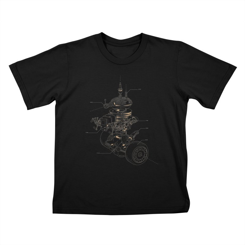 Recycling Robot Kids T-Shirt by darkchoocoolat's Artist Shop
