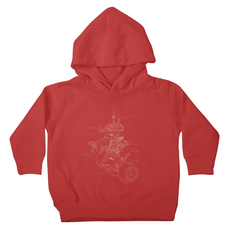 Recycling Robot Kids Toddler Pullover Hoody by darkchoocoolat's Artist Shop