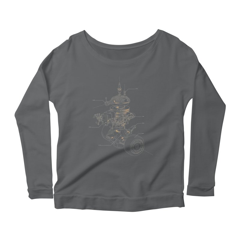 Recycling Robot Women's Scoop Neck Longsleeve T-Shirt by darkchoocoolat's Artist Shop