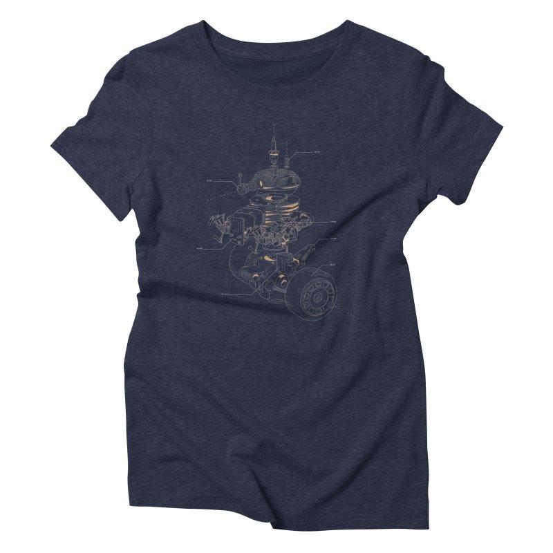 Recycling Robot Women's Triblend T-Shirt by darkchoocoolat's Artist Shop