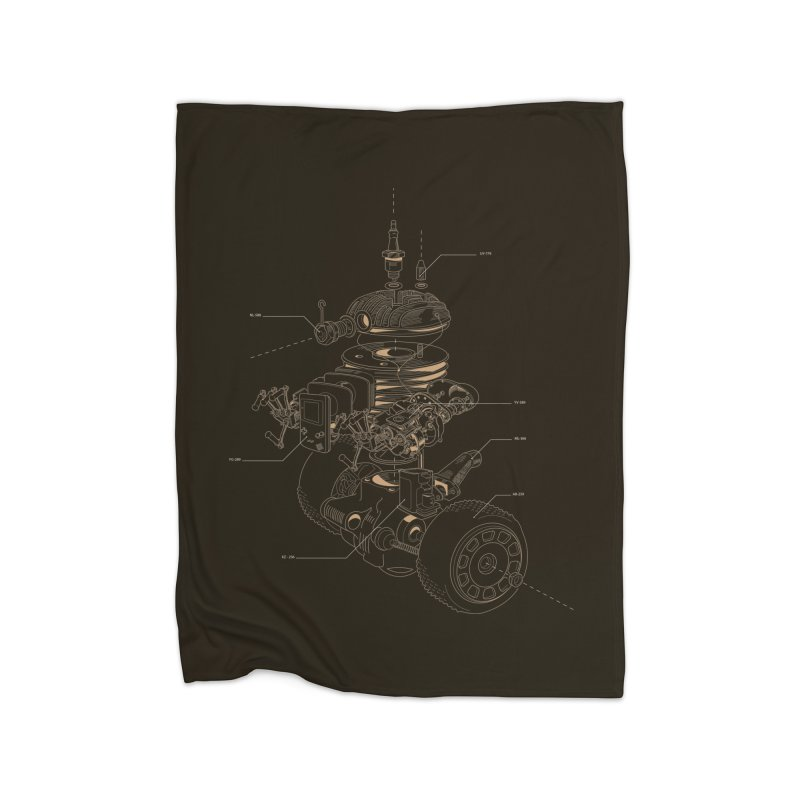 Recycling Robot Home Fleece Blanket Blanket by darkchoocoolat's Artist Shop
