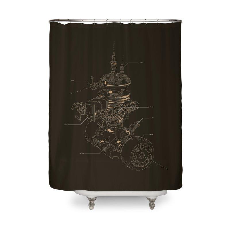 Recycling Robot Home Shower Curtain by darkchoocoolat's Artist Shop