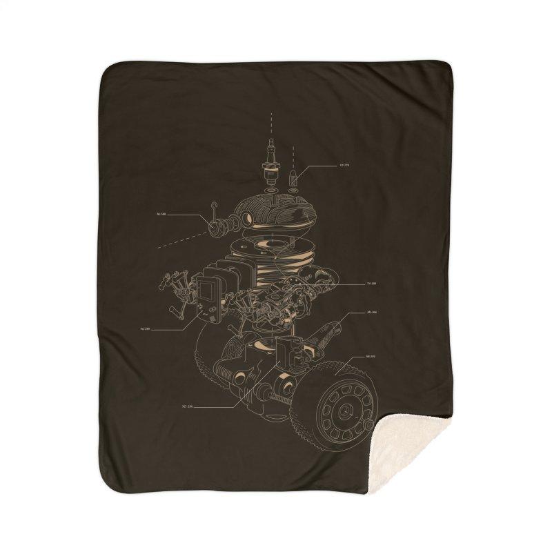 Recycling Robot Home Sherpa Blanket Blanket by darkchoocoolat's Artist Shop