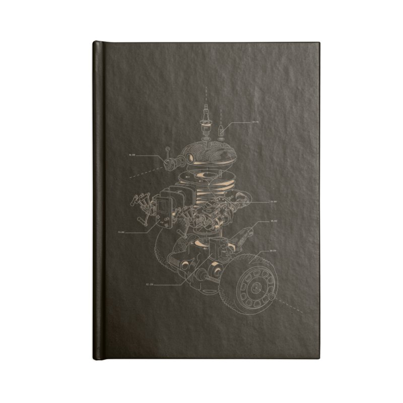 Recycling Robot Accessories Lined Journal Notebook by darkchoocoolat's Artist Shop
