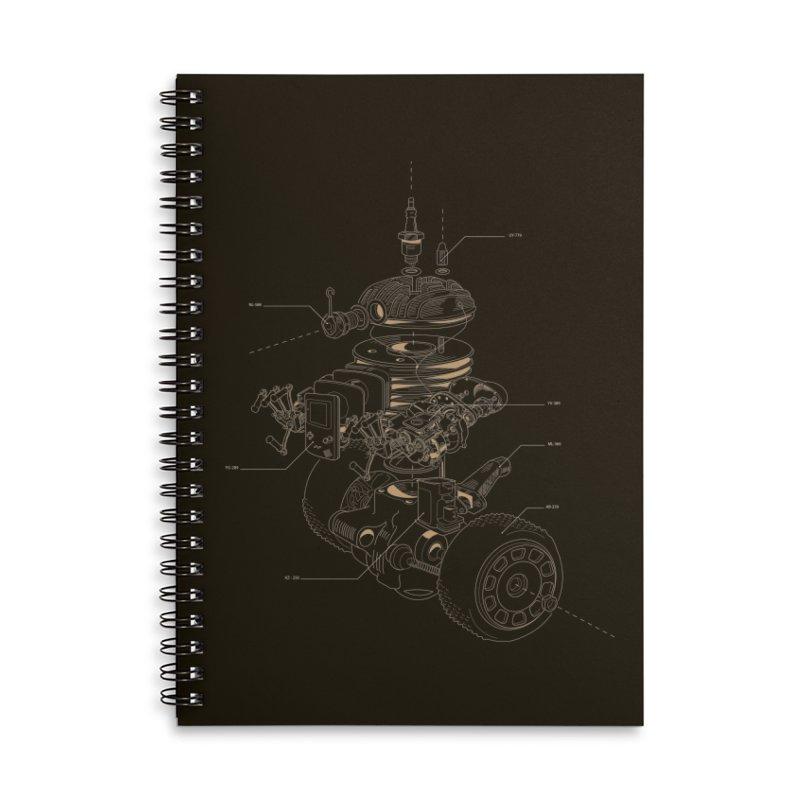 Recycling Robot Accessories Lined Spiral Notebook by darkchoocoolat's Artist Shop