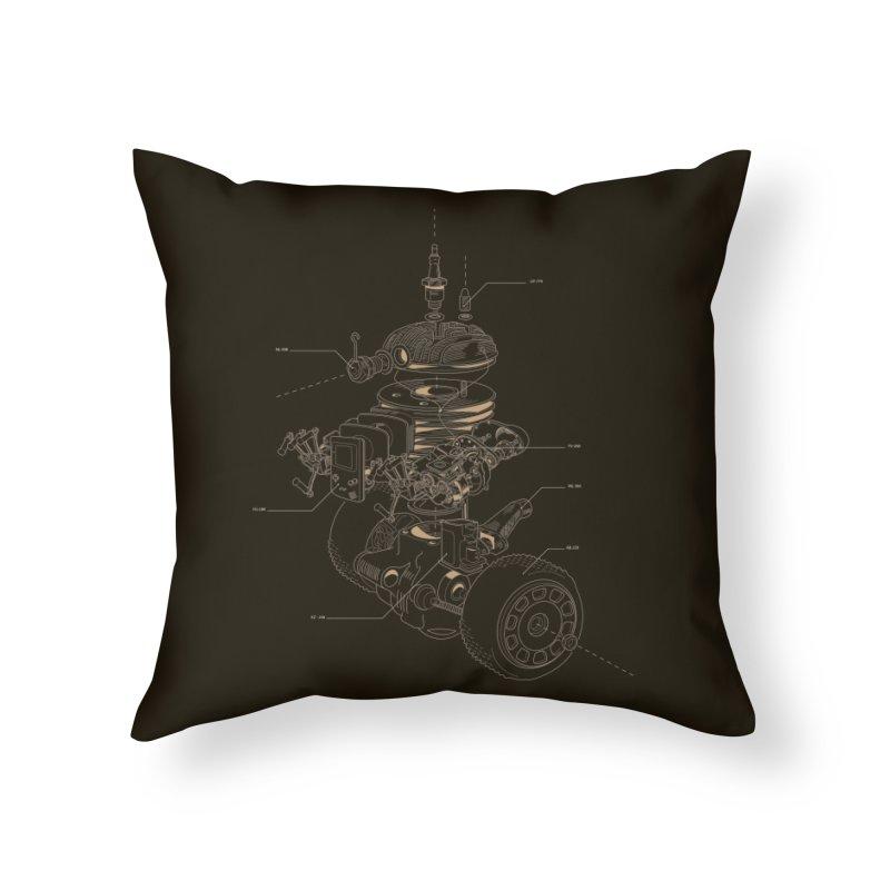 Recycling Robot Home Throw Pillow by darkchoocoolat's Artist Shop