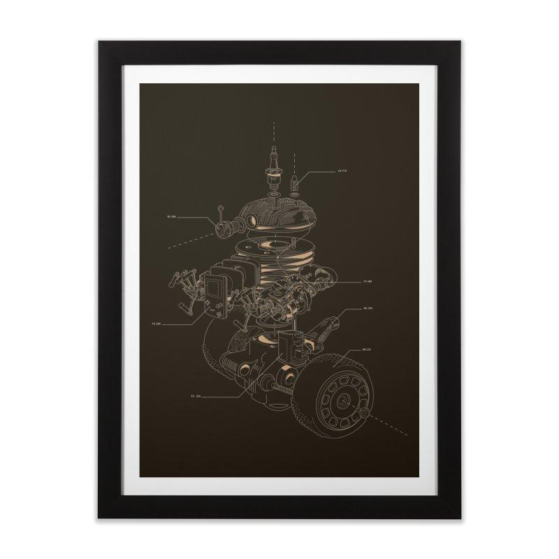 Recycling Robot Home Framed Fine Art Print by darkchoocoolat's Artist Shop