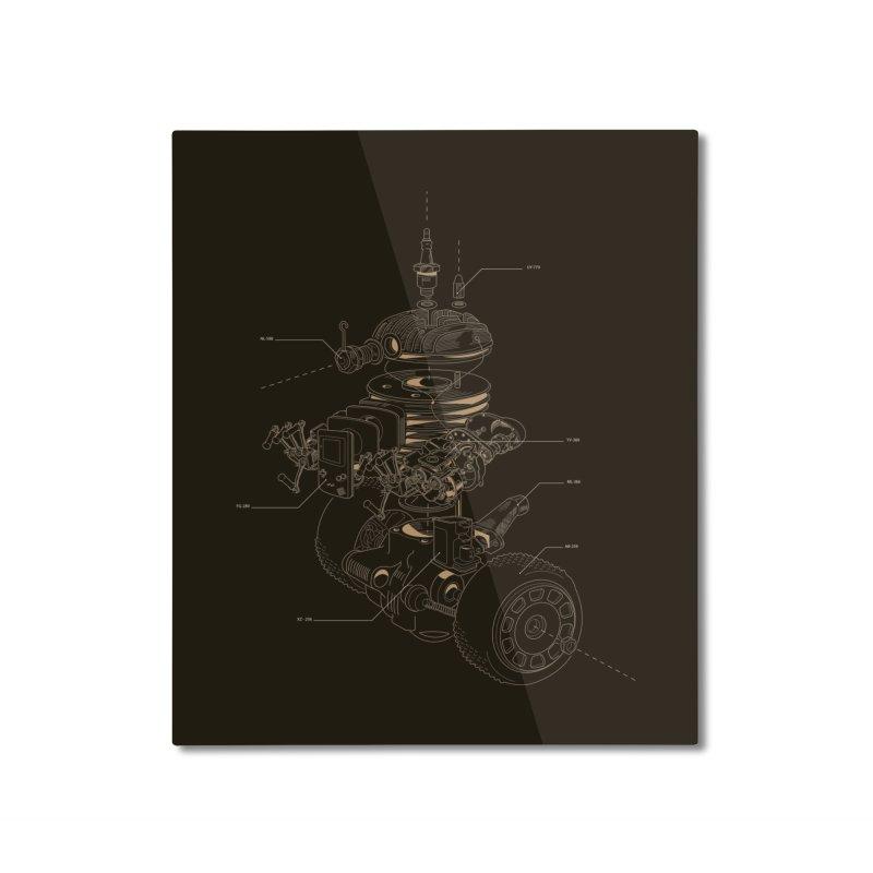 Recycling Robot Home Mounted Aluminum Print by darkchoocoolat's Artist Shop