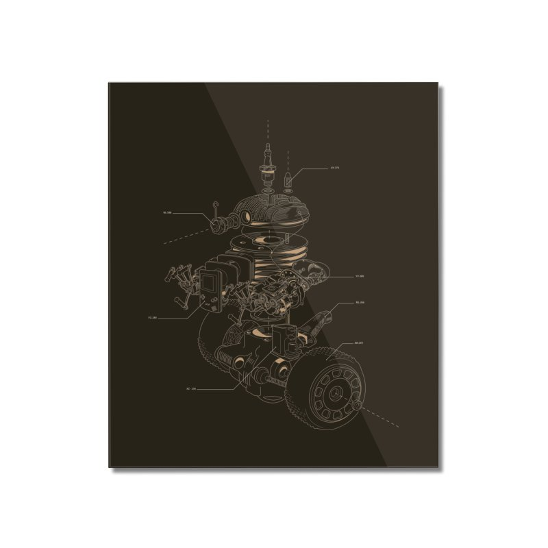 Recycling Robot Home Mounted Acrylic Print by darkchoocoolat's Artist Shop