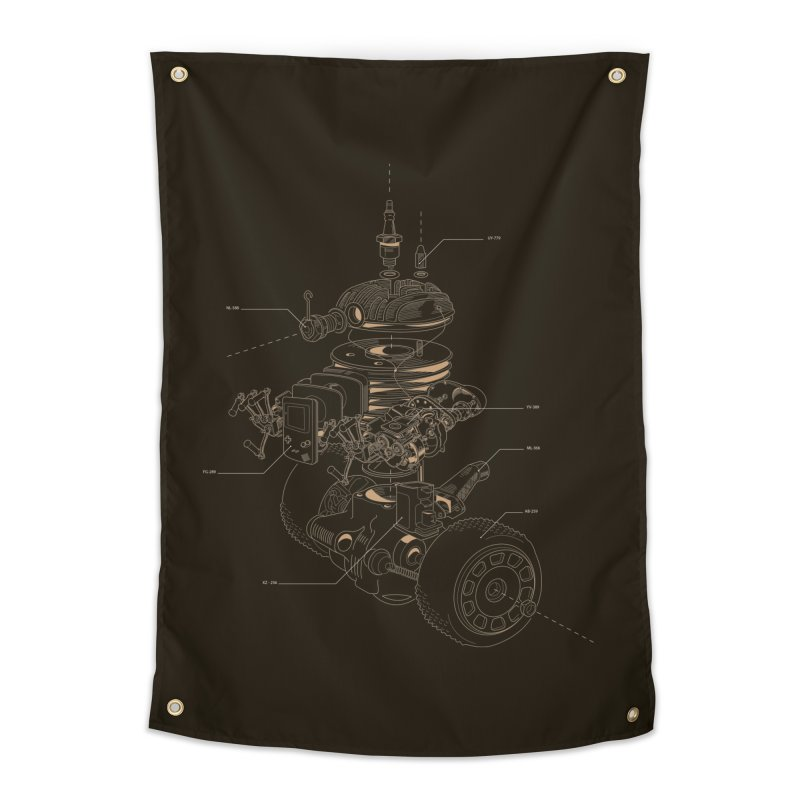 Recycling Robot Home Tapestry by darkchoocoolat's Artist Shop
