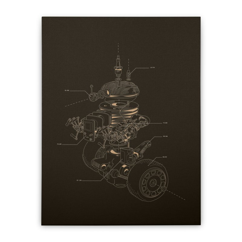 Recycling Robot Home Stretched Canvas by darkchoocoolat's Artist Shop