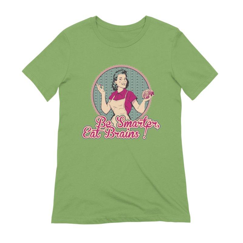 Eat Brains Women's Extra Soft T-Shirt by darkchoocoolat's Artist Shop
