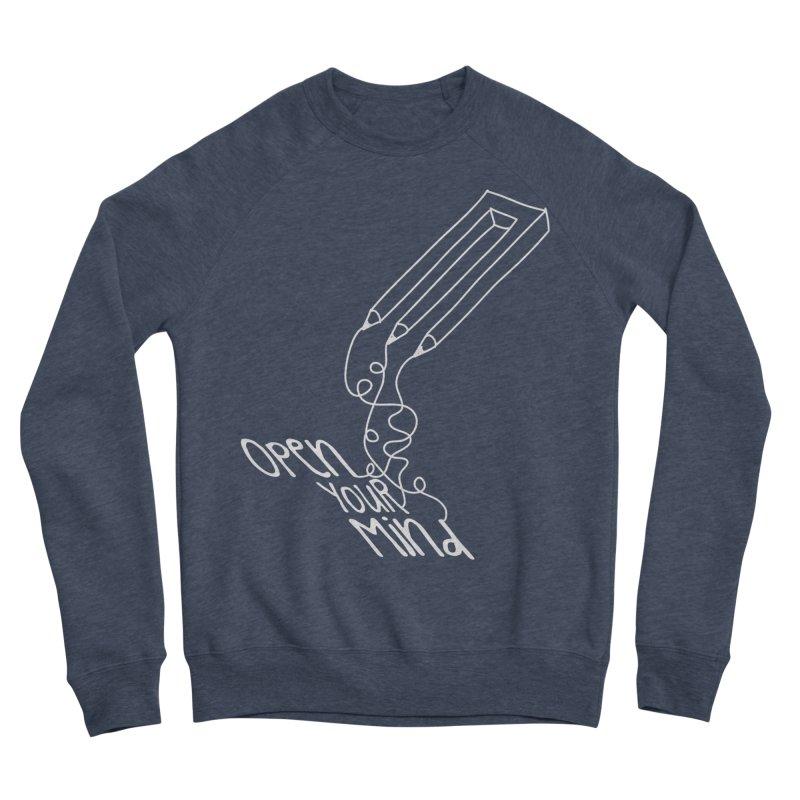 Open your mind Men's Sponge Fleece Sweatshirt by darkchoocoolat's Artist Shop
