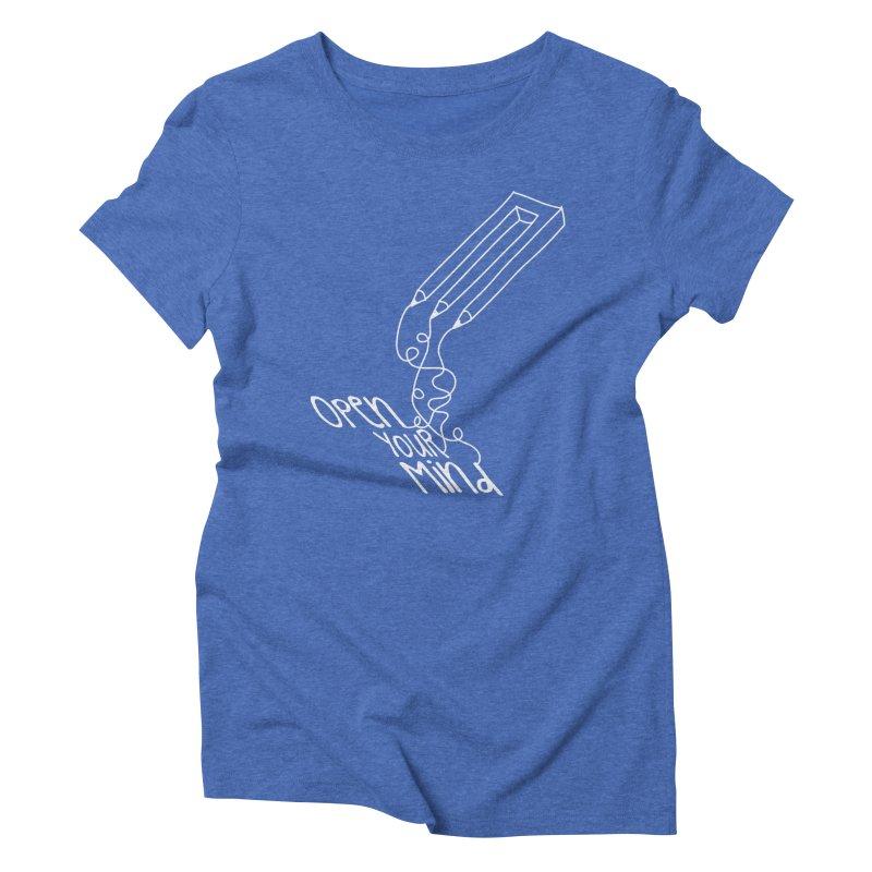 Open your mind Women's Triblend T-Shirt by darkchoocoolat's Artist Shop