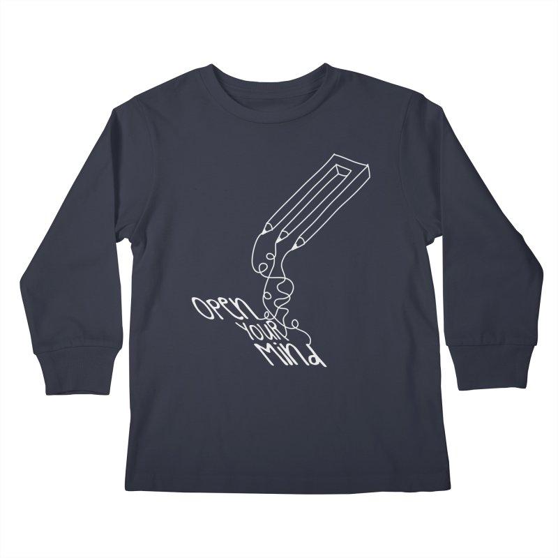 Open your mind Kids Longsleeve T-Shirt by darkchoocoolat's Artist Shop