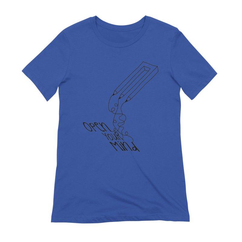 Open your mind Women's Extra Soft T-Shirt by darkchoocoolat's Artist Shop