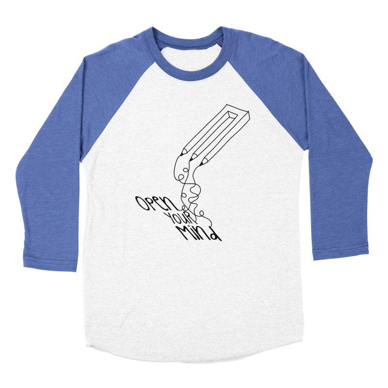 Open your mind Men's Baseball Triblend Longsleeve T-Shirt by darkchoocoolat's Artist Shop