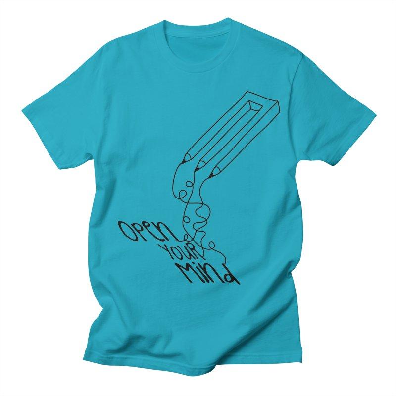 Open your mind Men's Regular T-Shirt by darkchoocoolat's Artist Shop