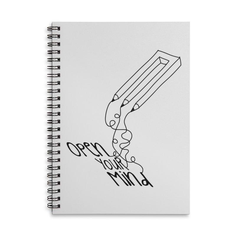 Open your mind Accessories Lined Spiral Notebook by darkchoocoolat's Artist Shop