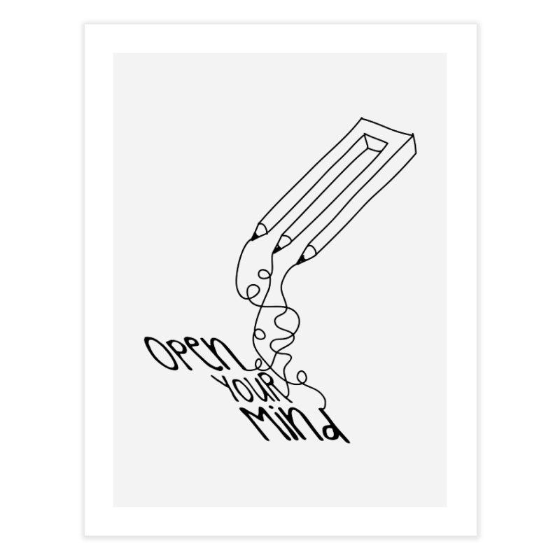 Open your mind Home Fine Art Print by darkchoocoolat's Artist Shop