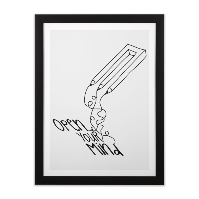 Open your mind Home Framed Fine Art Print by darkchoocoolat's Artist Shop