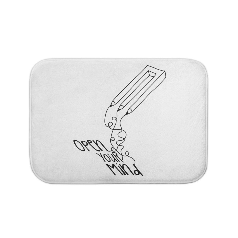 Open your mind Home Bath Mat by darkchoocoolat's Artist Shop