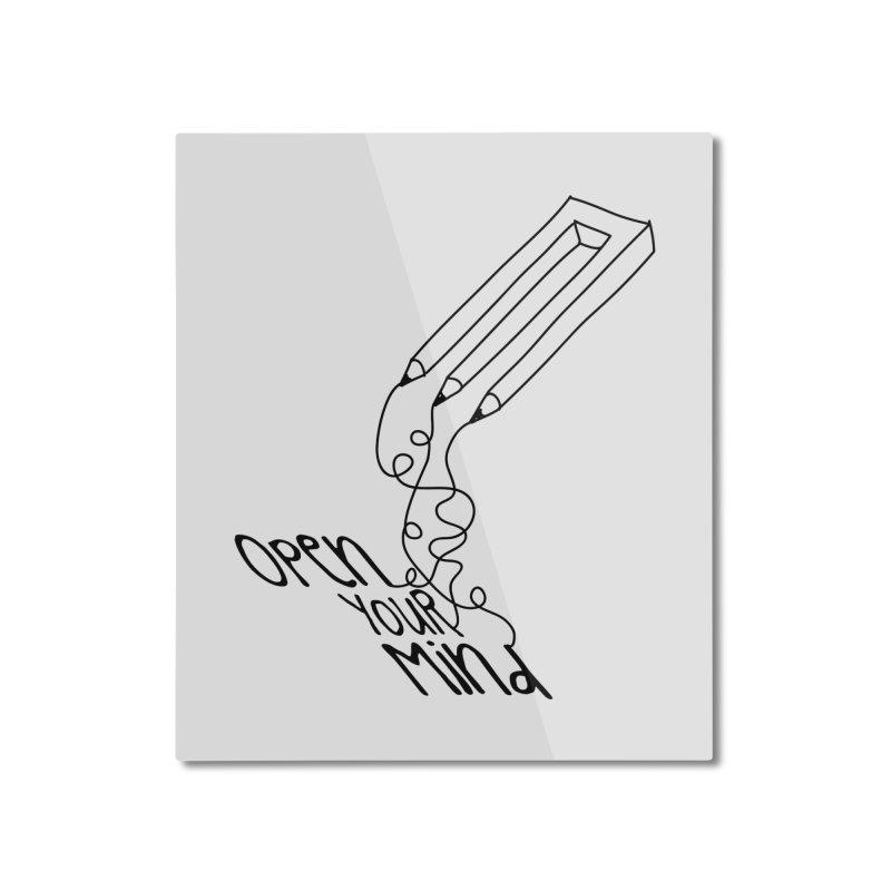 Open your mind Home Mounted Aluminum Print by darkchoocoolat's Artist Shop