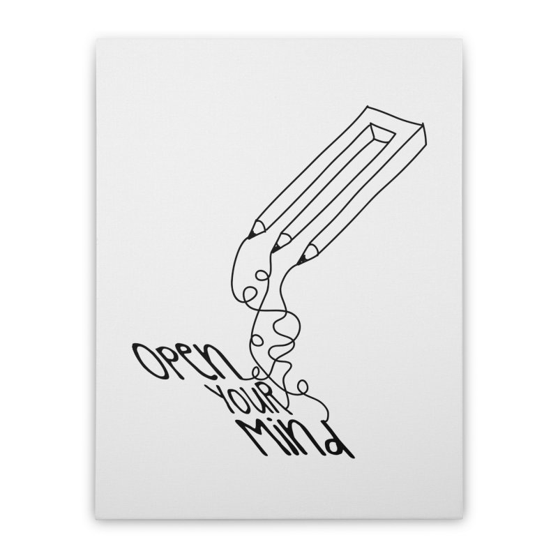 Open your mind Home Stretched Canvas by darkchoocoolat's Artist Shop