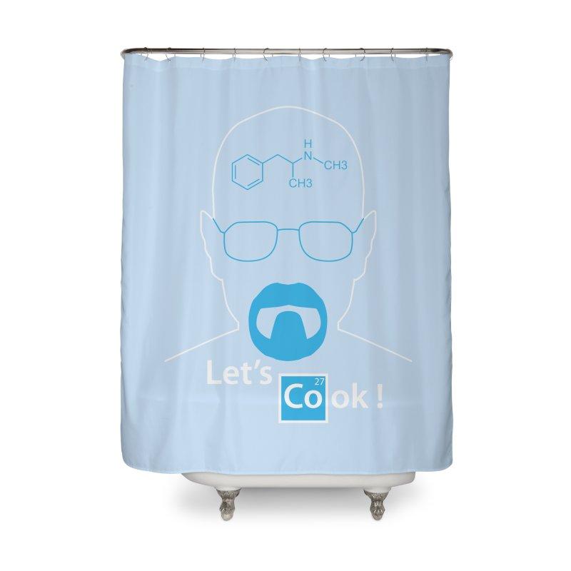 Let's Cook Home Shower Curtain by darkchoocoolat's Artist Shop