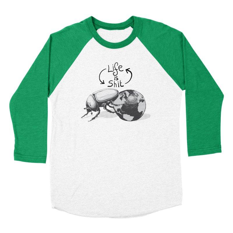 Life is ... Women's Baseball Triblend Longsleeve T-Shirt by darkchoocoolat's Artist Shop