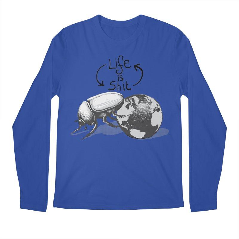 Life is ... Men's Regular Longsleeve T-Shirt by darkchoocoolat's Artist Shop