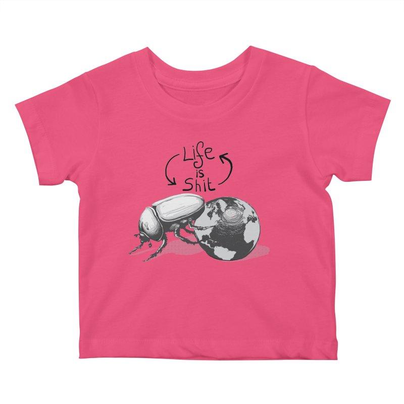 Life is ... Kids Baby T-Shirt by darkchoocoolat's Artist Shop