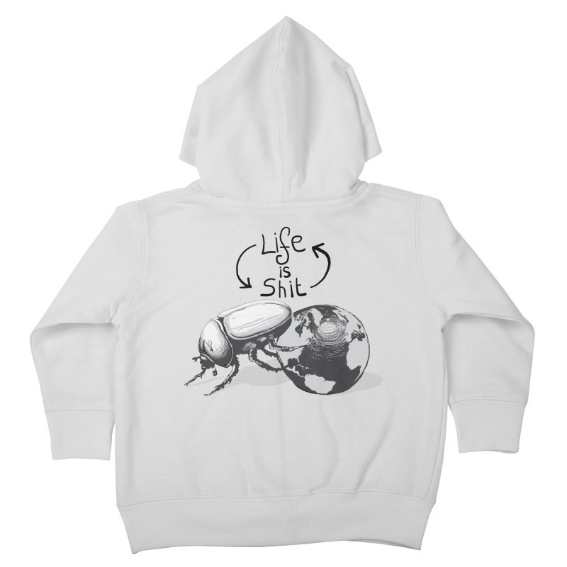 Life is ... Kids Toddler Zip-Up Hoody by darkchoocoolat's Artist Shop