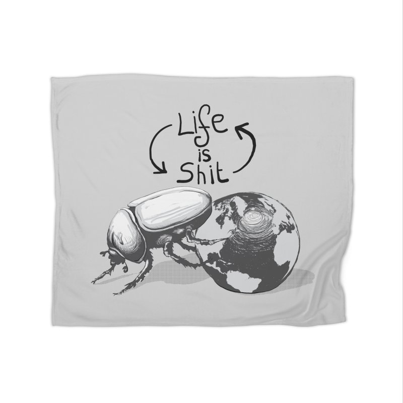 Life is ... Home Fleece Blanket Blanket by darkchoocoolat's Artist Shop