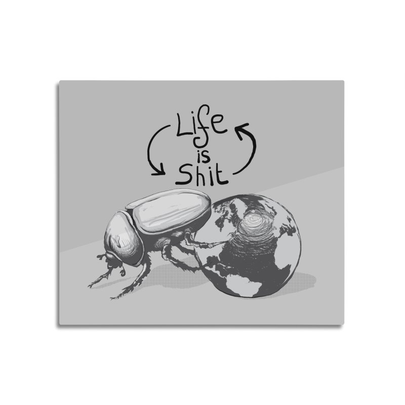 Life is ... Home Mounted Aluminum Print by darkchoocoolat's Artist Shop