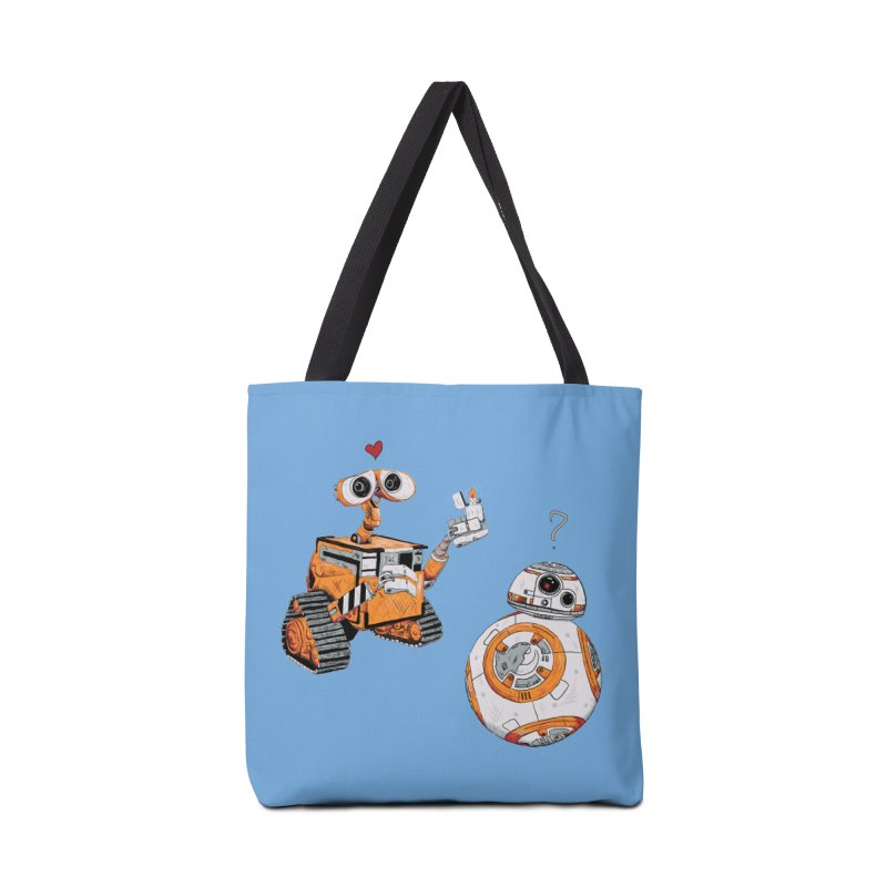2 Robots for 1 Lighter Accessories Tote Bag Bag by darkchoocoolat's Artist Shop
