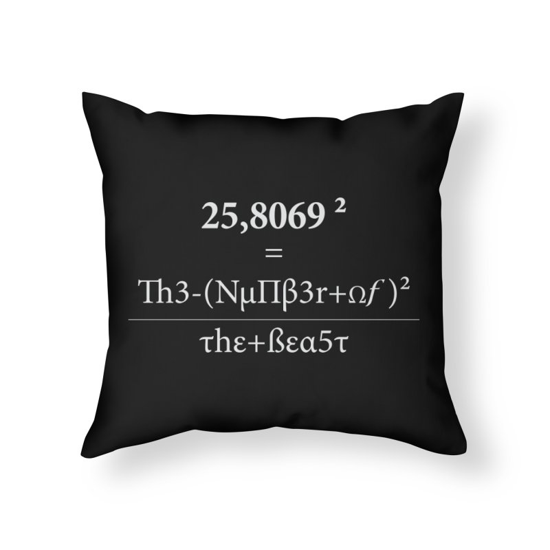 The Number of the Beast Home Throw Pillow by darkchoocoolat's Artist Shop