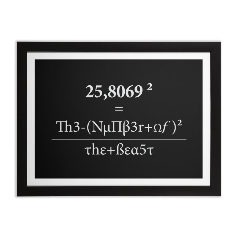 The Number of the Beast Home Framed Fine Art Print by darkchoocoolat's Artist Shop