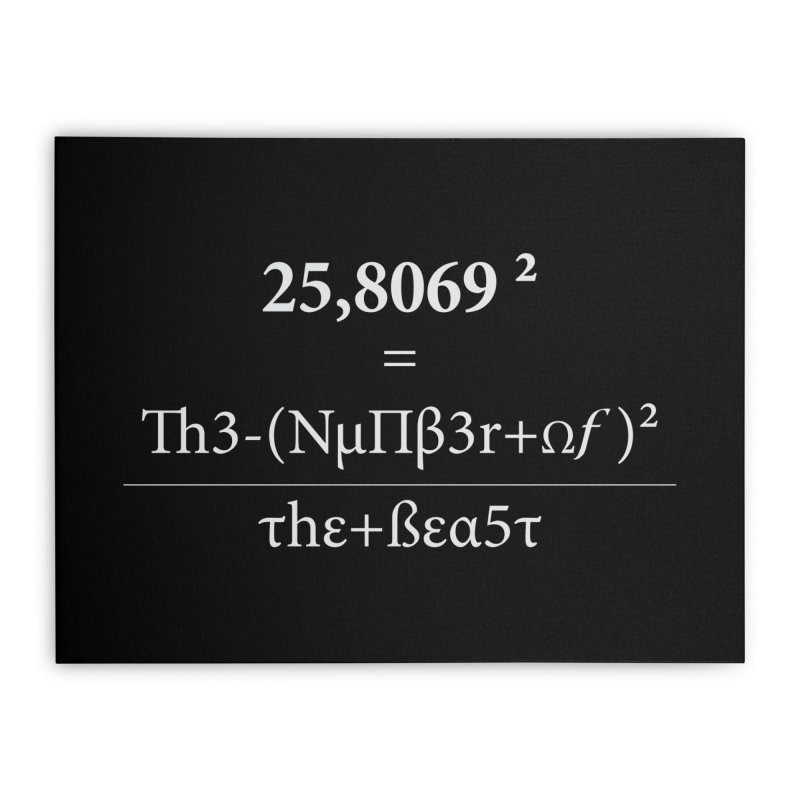 The Number of the Beast Home Stretched Canvas by darkchoocoolat's Artist Shop
