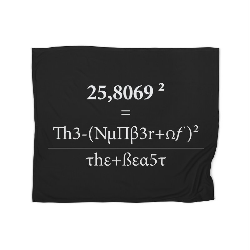 The Number of the Beast Home Fleece Blanket Blanket by darkchoocoolat's Artist Shop