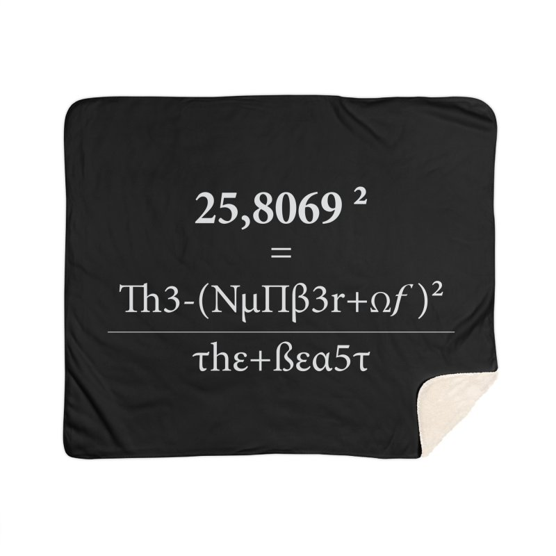 The Number of the Beast Home Sherpa Blanket Blanket by darkchoocoolat's Artist Shop
