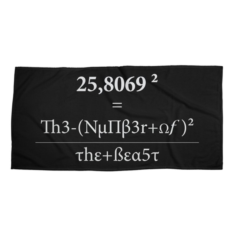 The Number of the Beast Accessories Beach Towel by darkchoocoolat's Artist Shop