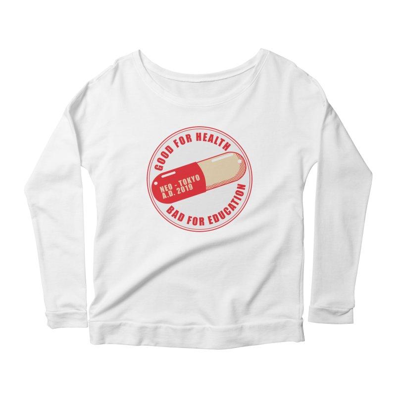 Good for Health Women's Scoop Neck Longsleeve T-Shirt by darkchoocoolat's Artist Shop