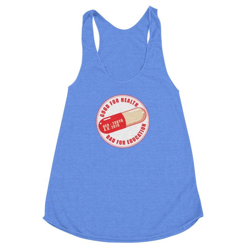 Good for Health Women's Racerback Triblend Tank by darkchoocoolat's Artist Shop