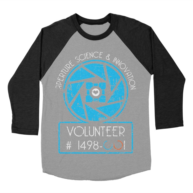 Aperture Volunteer Men's Baseball Triblend Longsleeve T-Shirt by darkchoocoolat's Artist Shop