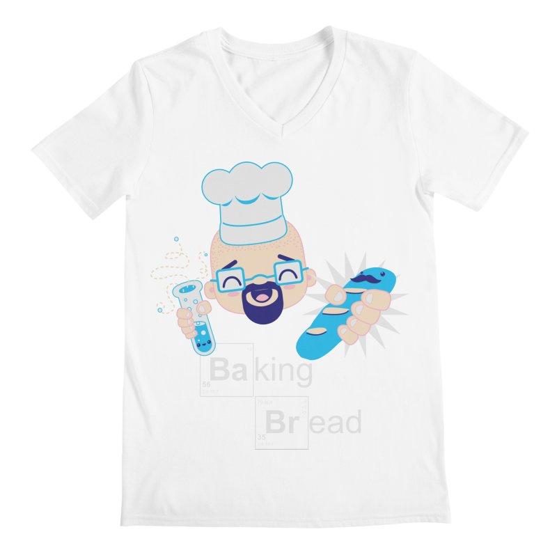 Baking Bread Men's V-Neck by darkchoocoolat's Artist Shop