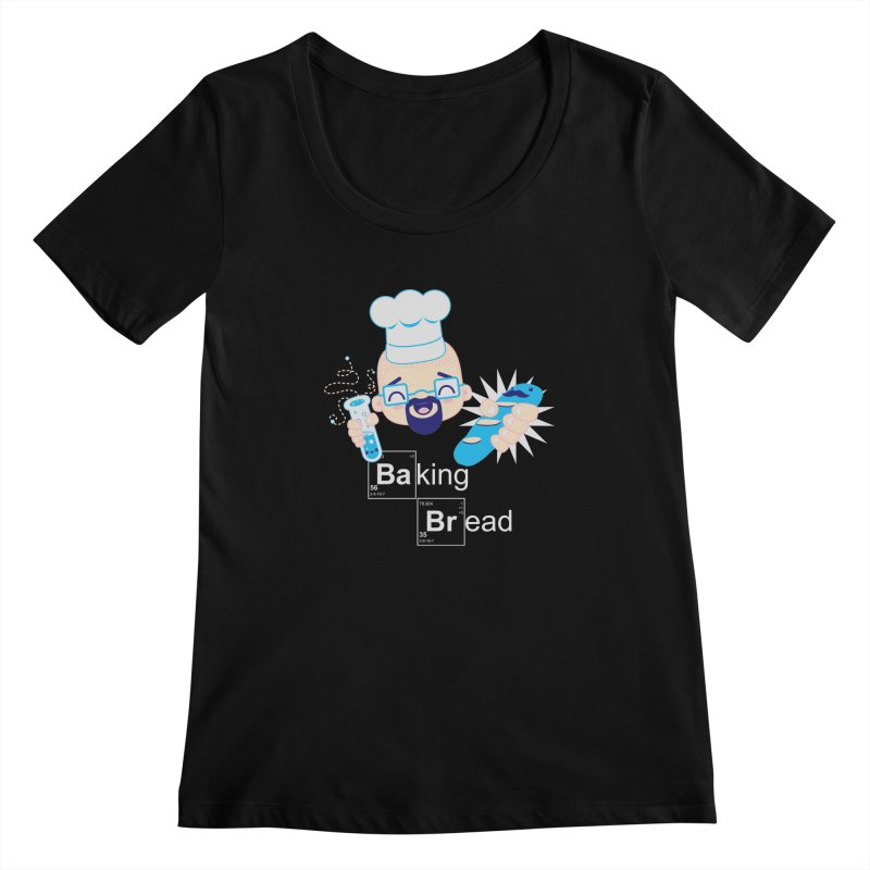 Baking Bread Women's Scoopneck by darkchoocoolat's Artist Shop
