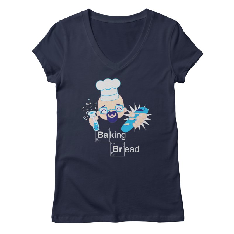 Baking Bread Women's V-Neck by darkchoocoolat's Artist Shop
