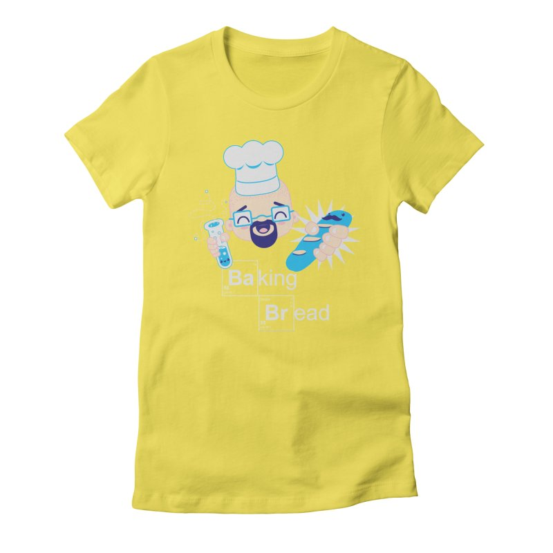 Baking Bread Women's Fitted T-Shirt by darkchoocoolat's Artist Shop
