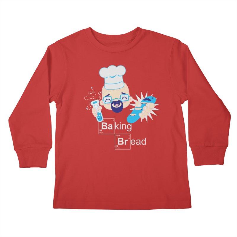 Baking Bread Kids Longsleeve T-Shirt by darkchoocoolat's Artist Shop